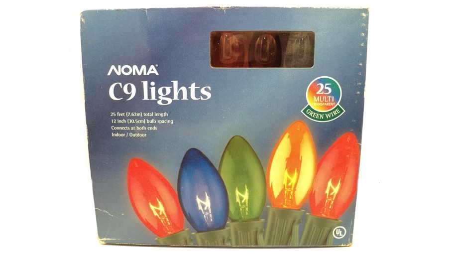 noma c9 transparent multi color home christmas lights - Multicolor Christmas Lights